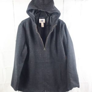 Old Navy wool Hooded Coat size xl